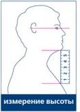 Измерение от подбородка до грудины.